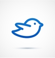 Blue twitter bird social media web icon vector