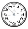 Working day clock vector