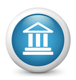Bank glossy icon vector