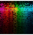 Multicolor rainbow abstract lights disco digital vector