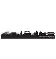 Novosibirsk russia city skyline detailed silhouett vector