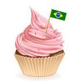 Brazilian cupcake vector