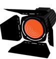 Orange spotlight vector