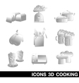 Icon set cooking 3d vector