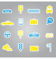 Taxi stickers set eps10 vector
