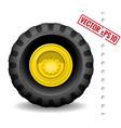 Tractor wheel vector