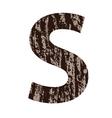 Bark letter s vector