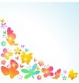 Colorful spring background design vector