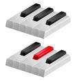 Black and white piano keys vector