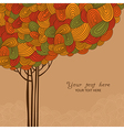 Abstract autumn tree made of waves for your design vector