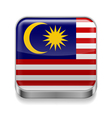 Metal icon of malaysia vector