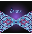 Tribal flyer design with two triangles vector