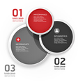 Modern design circle template vector
