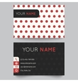 Business card template red and white pattern vector