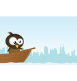 Bird on a boat vector