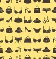 Fashion accessories pattern vector