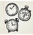 Doodle clocks set vector