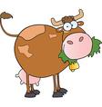 Farm dairy cow cartoon character vector