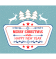 Vintage christmas card with tree and ornaments xm vector