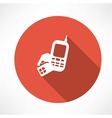 Phone with sim card icon vector