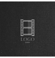 With engraving film strip icon in flat style on vector