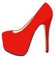 Pretty womens shoes vector