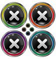 Round x buttons vector