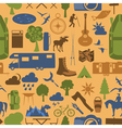 Camping outdoors hiking seamless pattern vector