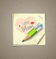 Happy mothers day paper note vector