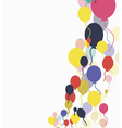 Background with multicolored balloons vector