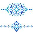 Ottoman motifs blue design series of fifty fourai vector