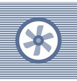 Car cooling fan color flat icon vector