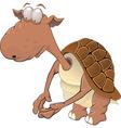 Small turtle cartoon vector