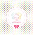 Cupcake polka dot background vector