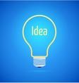 Abstract yellow bulb icon vector