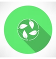 Cycle leaves icon vector