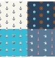 Vintage flat design modern nautical marine pat vector