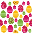 Seamless pattern with painted easter eggs vector