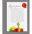 Fruit background blank page vector