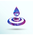 Drop cream white droplet paint water rain sweat vector