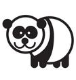 Cute animal panda - vector