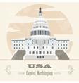 Usa landmarks retro styled image vector