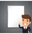 Gray business background with boss vector