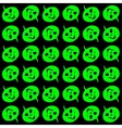 Halloween - green pumpkin heads pattern vector