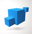Three 3d cubes logo vector