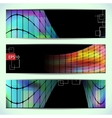 Set of abstract hi-tech banners vector