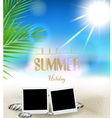 Summer holidays background with film frame vector