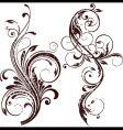 Grunge floral element vector