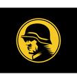 German soldier mascot label vector