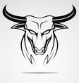 Bulls head tribal vector